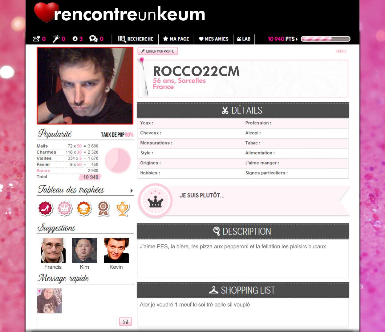 profil site rencontre